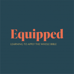 Sermon graphic with title: Equipped
